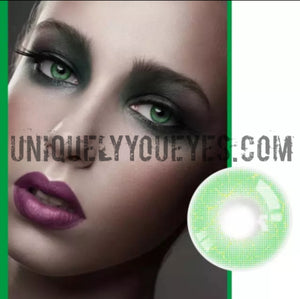 ☆PREORDER♡ ELECTRICALLY NATURAL GREEN COLORED CONTACT LENS GOSSIP GIRL-GOSSIP GIRL-UNIQUELY-YOU-EYES