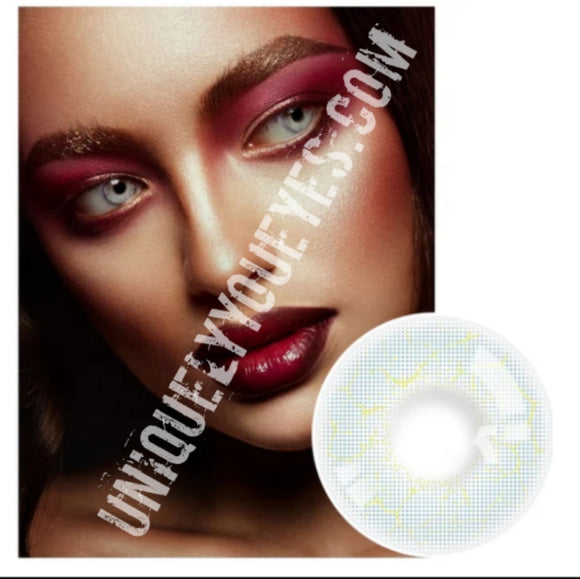 ELECTRICALLY Natural Blue Gray Static COLORED CONTACT LENS GOSSIP GIRL