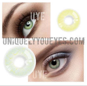 ELECTRICALLY NATURAL Grayish GREEN Lightning COLORED CONTACT LENS GOSSIP GIRL-GOSSIP GIRL-UNIQUELY-YOU-EYES