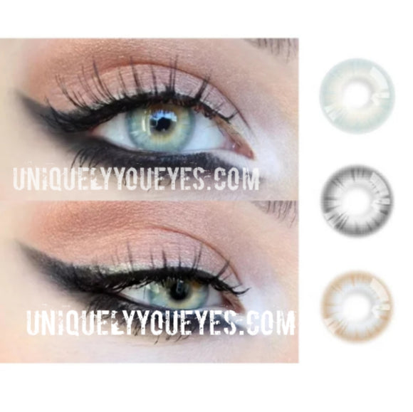 Minty Green PURE NATURE colored contacts