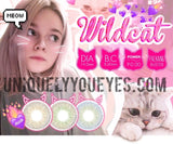 NEW WILDCAT Green NATURAL COLORED CONTACTS-Wildcat-UNIQUELY-YOU-EYES
