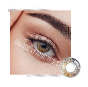 NEW ARRIVAL fairytale GLITTERING brown POLYFLEX CONTACT LENSES-Glittering-UNIQUELY-YOU-EYES