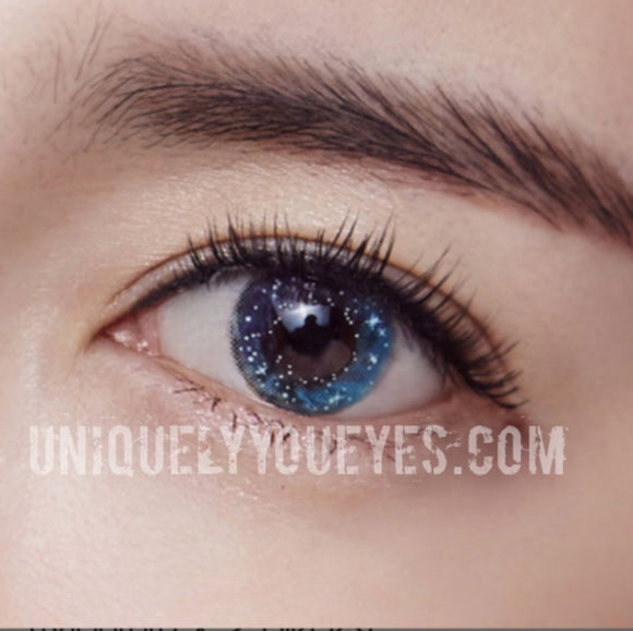 NEW ARRIVAL Glittering Fairytale Blue Colored Contacts-Glittering-UNIQUELY-YOU-EYES