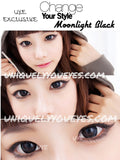 MOONLIGHT BLACK DOLLY EYES COLORED CONTACT LENS-Moonlight-UNIQUELY-YOU-EYES