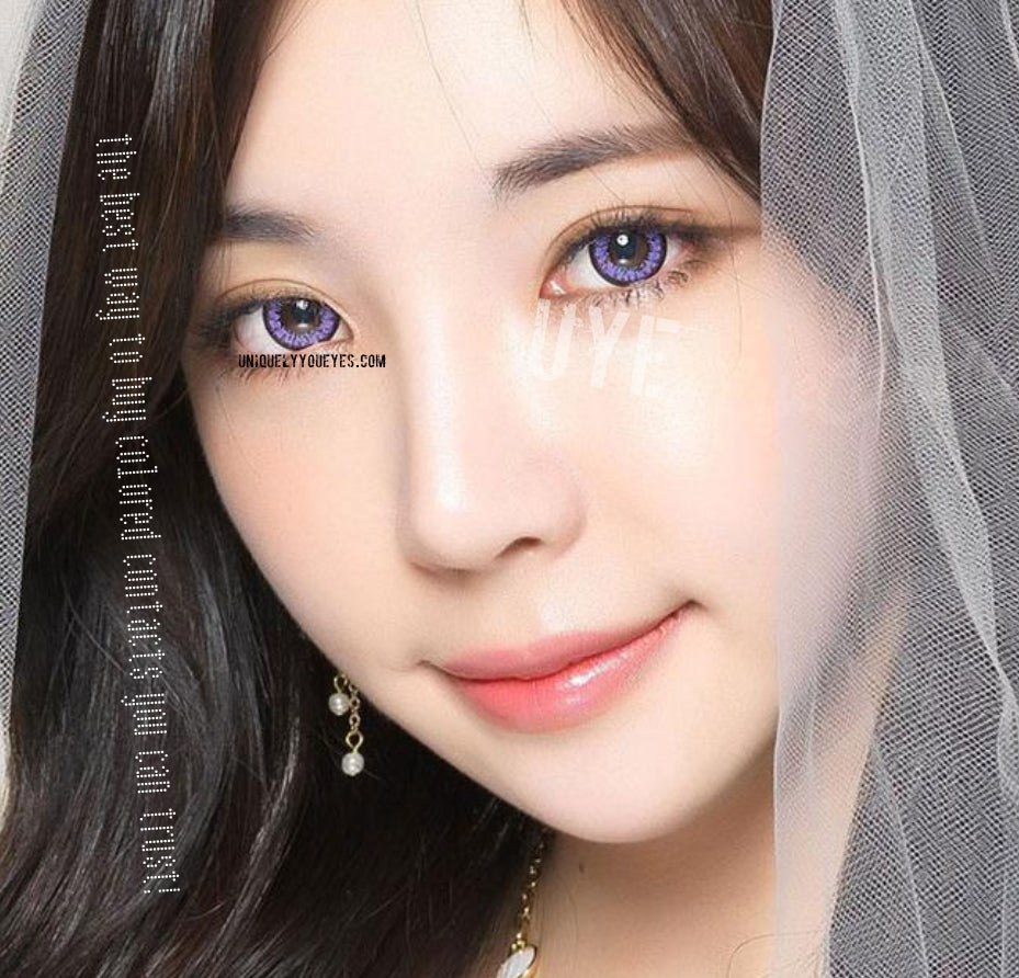 Shining Star Violet Cosplay Big Eyes Purple Violet Colored Contacts