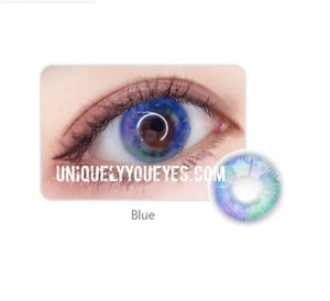 7-tone Rio Colored Contacts 5 Color Options Brown Blue Pink Gray grey Chocolate Coffee Unicorn lense-Rio 7 Tone unicorn lens-UNIQUELY-YOU-EYES