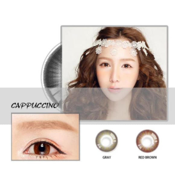 New Arrival ♡ CAPPUCCINO Natural gray grey colored contacts