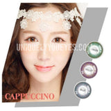 New Arrival CAPPUCCINO Natural Green Colored Contacts
