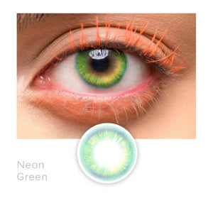 Rainbow NEON GREEN COLORED CONTACTS
