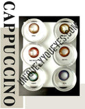 8 Colours Cappuccino Colored Contacts