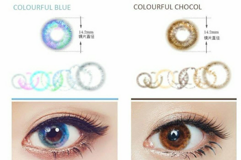 natural safe colored contacts blue chocolate