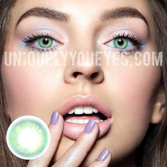 NEW ARRIVAL Rainbow NEON GREEN COLORED CONTACTS