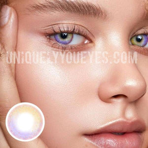NEW ARRIVAL Rainbow NEON Brown (purple hues) COLORED CONTACTS-Rainbow Neon-UNIQUELY-YOU-EYES