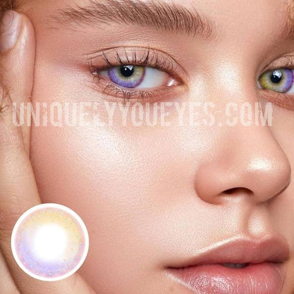 Copy of NEW ARRIVAL Rainbow NEON Brown (purple hues) COLORED CONTACTS