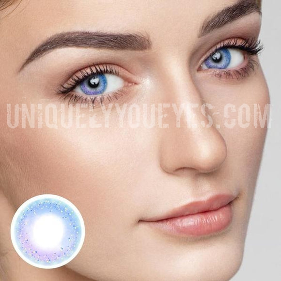 NEW ARRIVAL Rainbow NEON Blue COLORED CONTACTS