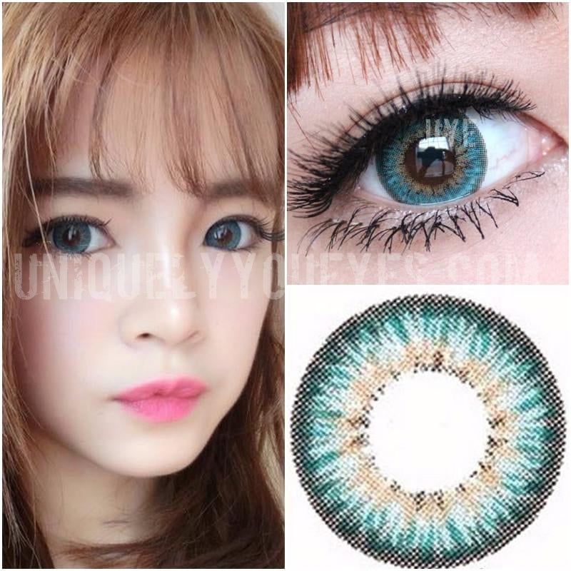 Natural Colored Contacts Turquoise 3 Tone Colored Contact