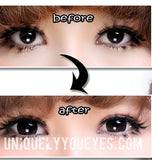 SALE! BIG EYEWEAR MYSTERY BLACK COLORED CONTACTS-BIG EYEWEAR-UNIQUELY-YOU-EYES