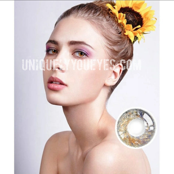 fairytale GLITTERING brown POLYFLEX CONTACT LENSES