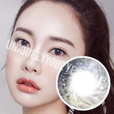 NEW ARRIVAL fairytale GLITTERING grey GRAY POLYFLEX CONTACT LENSES-Glittering-UNIQUELY-YOU-EYES