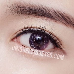 NEW ARRIVAL fairytale GLITTERING Pink Violet POLYFLEX CONTACT LENSES-Glittering-UNIQUELY-YOU-EYES