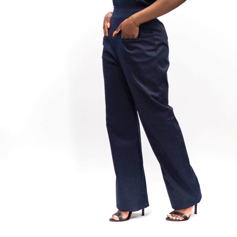 Eduvie Wide Leg Trousers