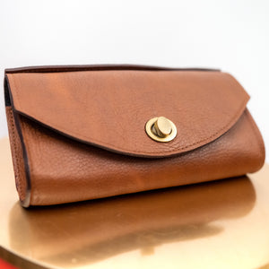 Brown Leather Zenifa Purse
