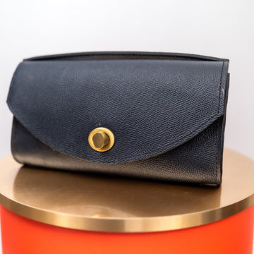 Blue Leather Zenifa Purse