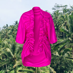 Omote' Robe in Fuschia