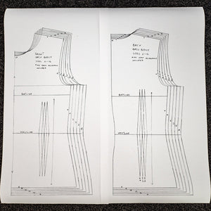 Graded Basic Bodice Pattern U.K. sizes 6 -16