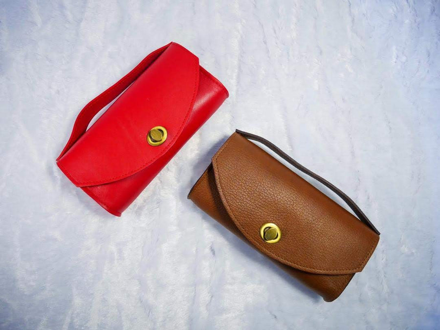 Red Leather Zenifa Purse