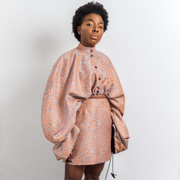 terracotta oversize jacket by kim dave