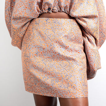 Ese Mini Skirt in Terracotta