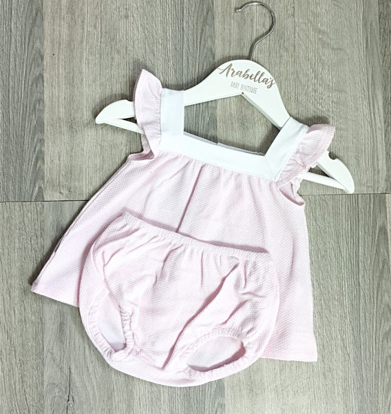 'Rosie' Pink Cotton 2 Piece - Arabella's Baby Boutique