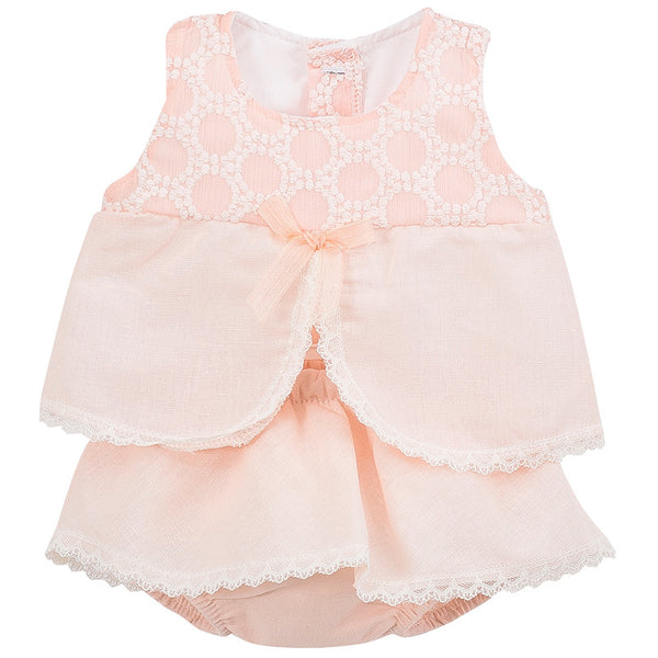 CALAMARO - Pink Frilly Dress Set - Arabella's Baby Boutique