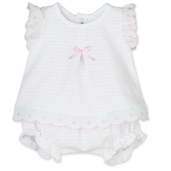 CALAMARO - Pink Frilly Short Set - Arabella's Baby Boutique