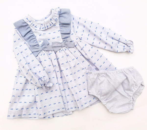 Blue Swiss Dot Dress by Kiriki - Arabella's Baby Boutique
