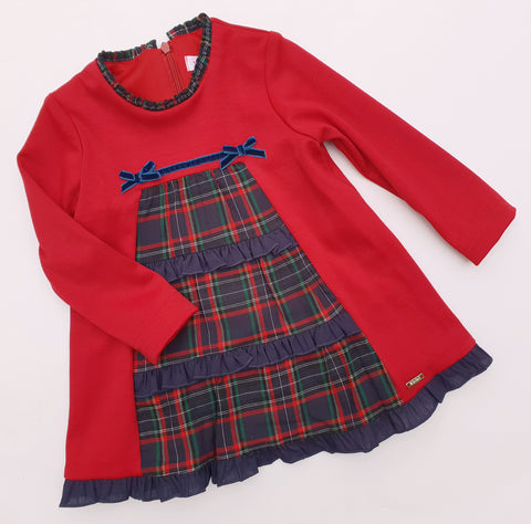 Kirki Red & Navy Tartan Dress - Arabella's Baby Boutique