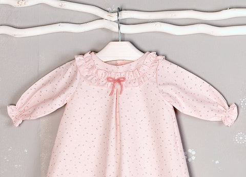 Mebi Pink Floral Dress - Arabella's Baby Boutique