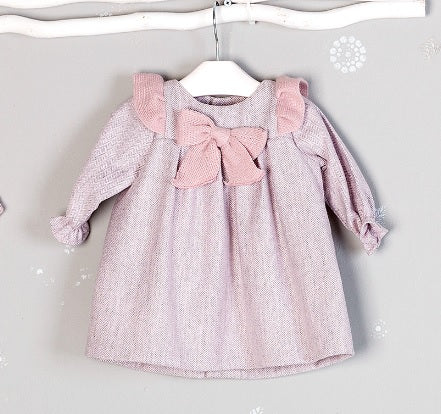 Mebi Frill & Bow Dress - Arabella's Baby Boutique