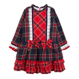 Newness Kids Red Tartan Girl's Dress - Arabella's Baby Boutique