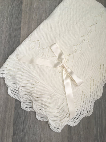 Cream Baby Blanket - Arabella's Baby Boutique