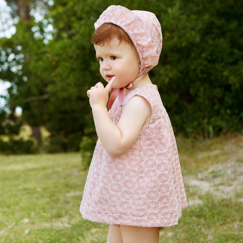 Dusky Pink Girl's Dress - Arabella's Baby Boutique