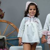 Jam pant set with furry bonnet - Arabella's Baby Boutique