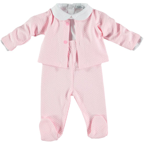 Babidu Pink Three Piece Set - Arabella's Baby Boutique
