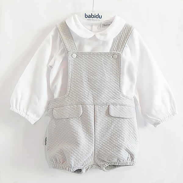 Babidu Grey Romper Set - Arabella's Baby Boutique