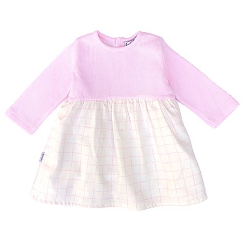 Babidu Pink & White Girls Dress - Arabella's Baby Boutique