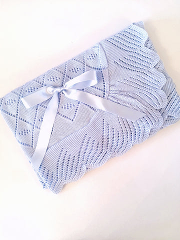 Baby Blue Baby Blanket - Arabella's Baby Boutique