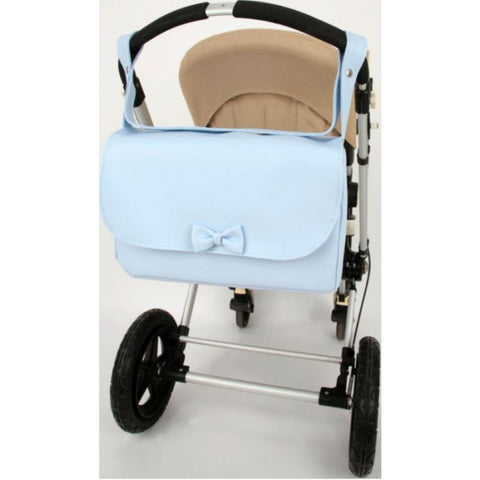 Blue Bow Baby Changing Bag - Arabella's Baby Boutique