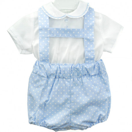 'Juan' Baby Blue H Bar Outfit - Arabella's Baby Boutique