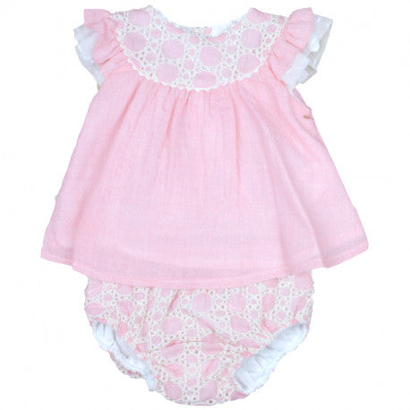 'Clara' Blush Pink Jam Pant Set - Arabella's Baby Boutique